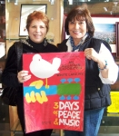 Rosanne Senatore Adams & Roseann Montalbano Farrow- Summer 2009 at Bethel Woods Museum celebrating 40th Anniversary of W