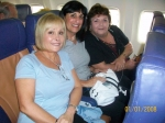 Carol, Pam & Sandy heading home to Fla.  We had a blast!