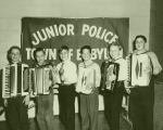 Babylon Town Junior Police Circa 1959-1960 From Left to right: Robert Zarcone, Kenneth Gareau, John Moxim, Al Lorenzetti